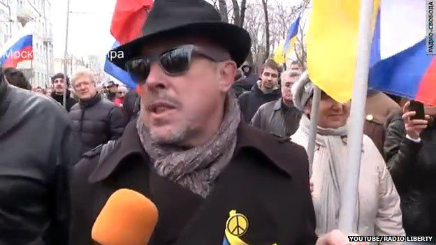 Andrei Makarevich at peace march