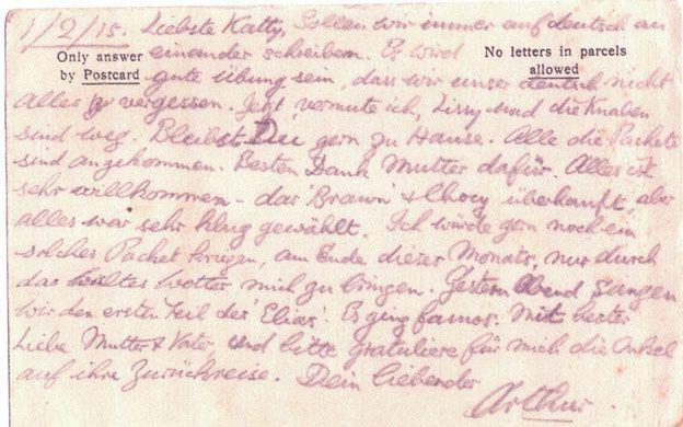 A postcard from Arthur G Ponsonby