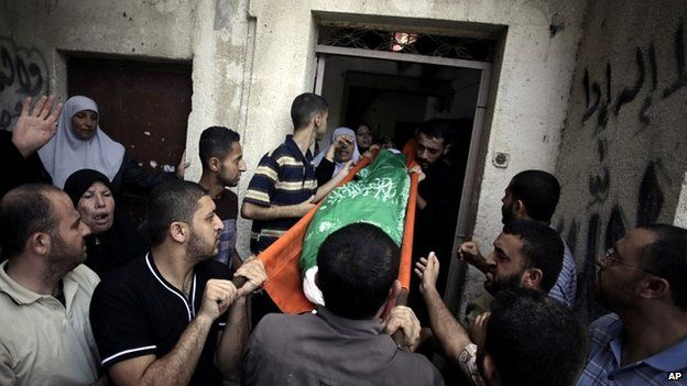 The body of Mohammed Deif's wife