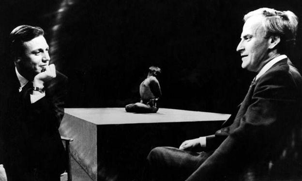 David Attenborough meets BKS Iyengar (centre) and Yehudi Menuhin (right)
