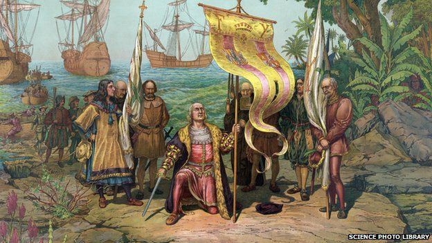 19th-century artwork of the Italian explorer Christopher Columbus