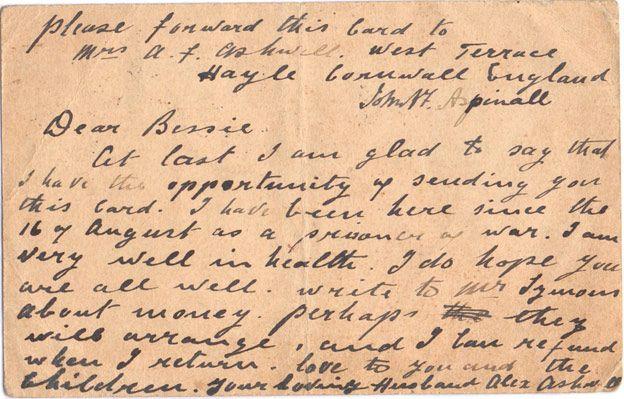 A postcard from Alexander Ashwell