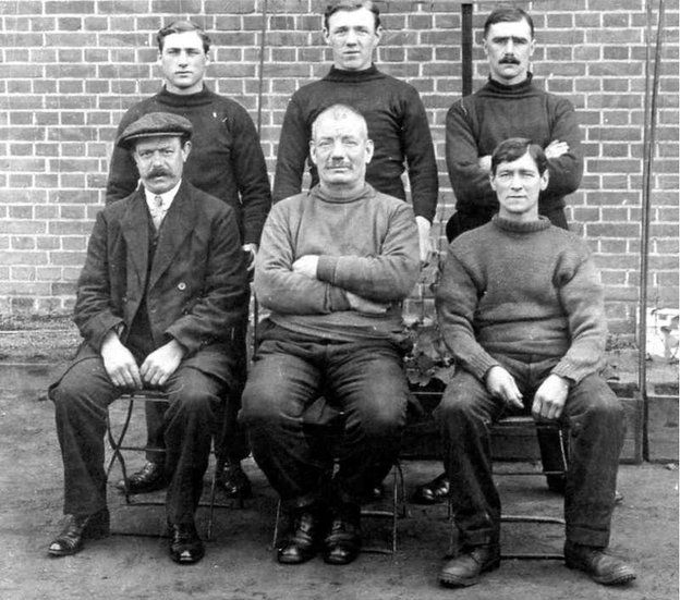 John Green and his camp companions