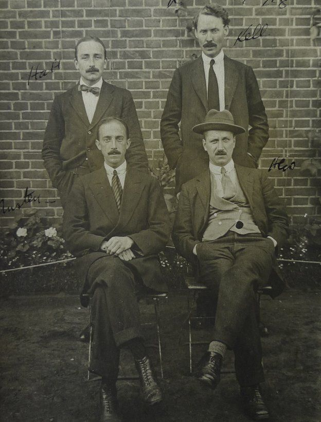Henry Walsh with his Ruhleben companions