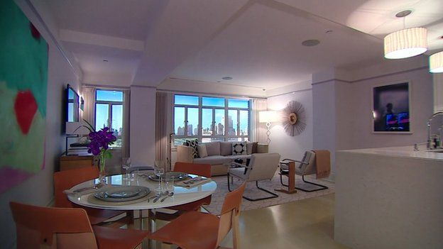 Interior of luxury flat in Carlton House complex