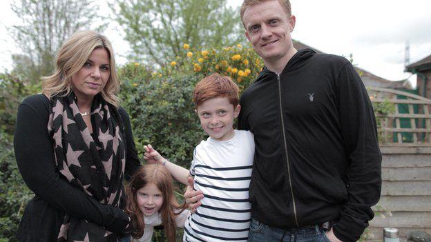Joe with his family