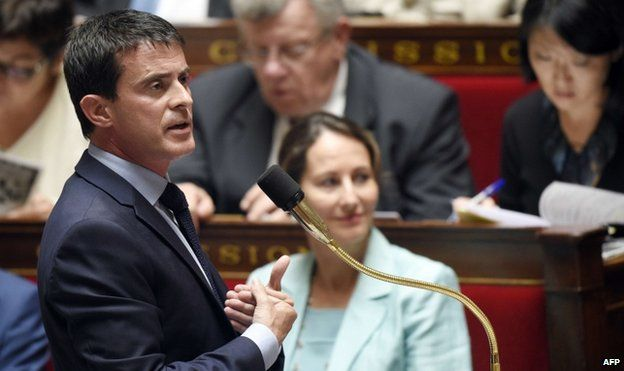 Manuel Valls addresses the National Assembly in July 2014