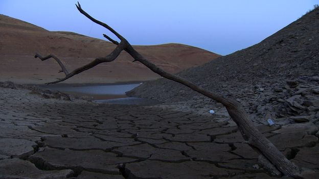 Cracked earth in California