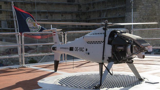One of the two drones aboard the Phoenix
