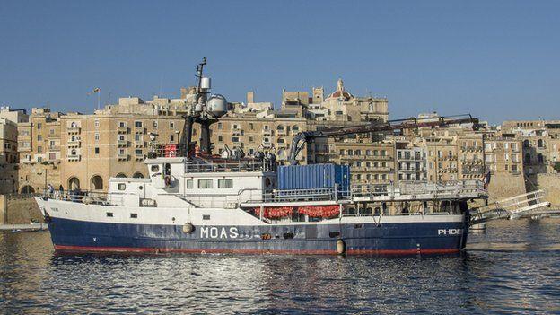 The Phoenix in Malta's Grand Harbour
