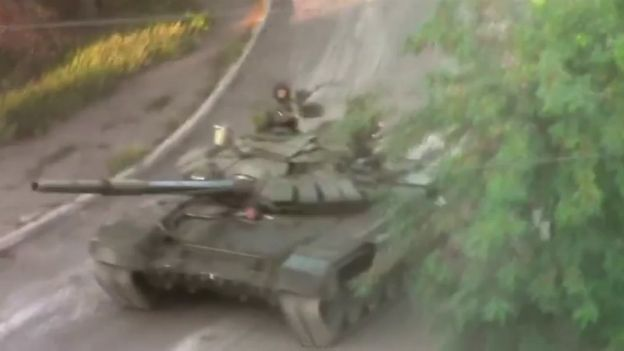 A screengrab from the video footage analysed by IISS - 26 August 2014