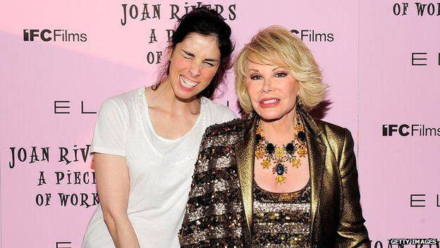 Sarah Silverman and Joan Rivers