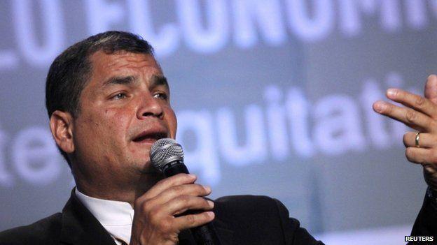 President Rafael Correa 19 August 2014