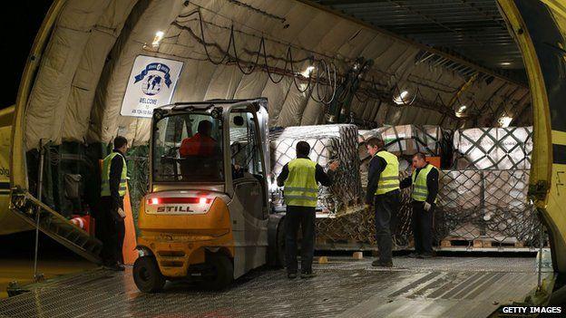 German cargo plane destined for northern Iraq, 22 Aug 14