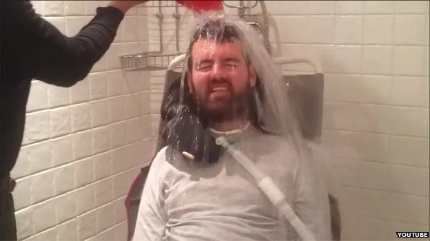Motor Neurone sufferer Euan does the ice bucket challenge