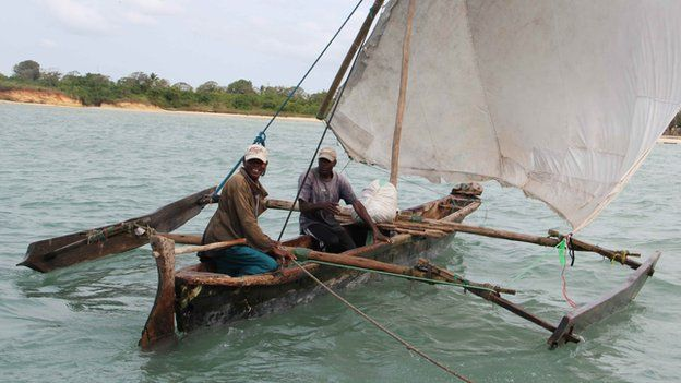 A fishing vessel in the waters off Tanzania