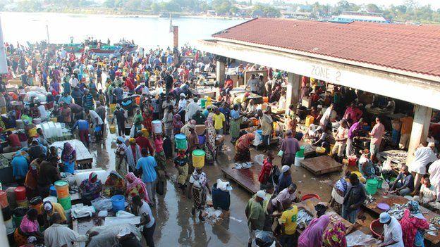 Dar es Salaam fish market, Tanzania