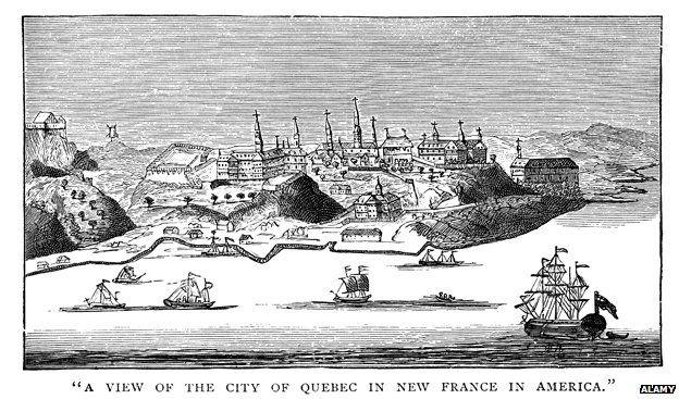 Quebec, New France, America 1740