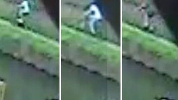 CCTV images of cyclists one, two and three