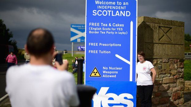 English Scots for Yes tea party