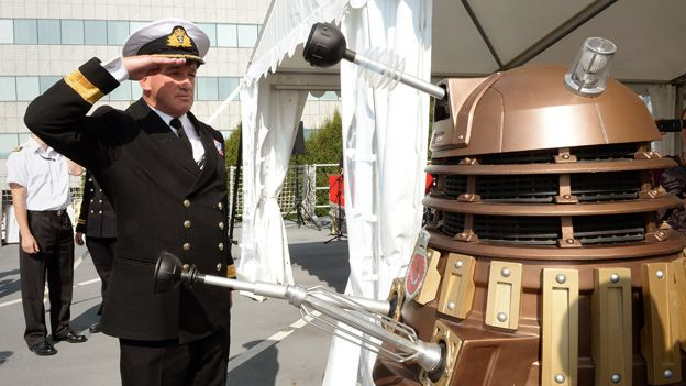 The Dalek is saluted