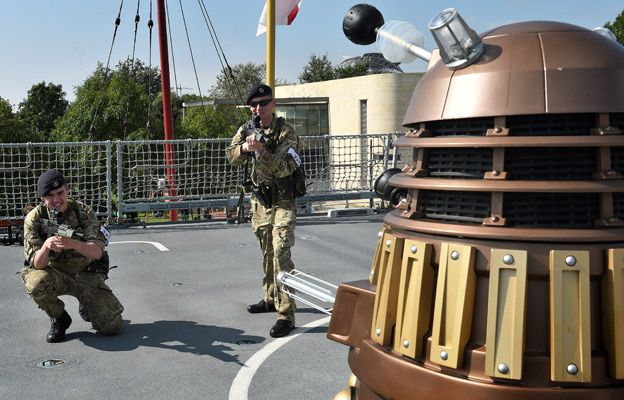 The Dalek is confronted