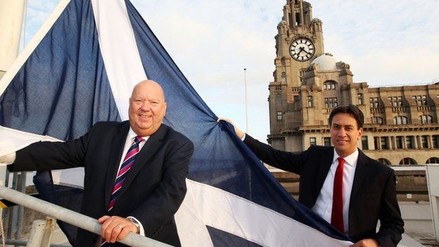 Liverpool City Council leader Joe Anderson and Labour leader, Ed Miliband