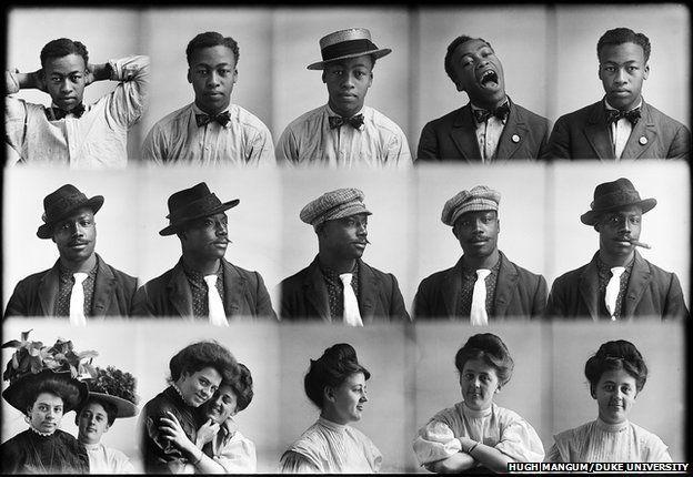 Fifteen portrait photos taken by Hugh Mangum.