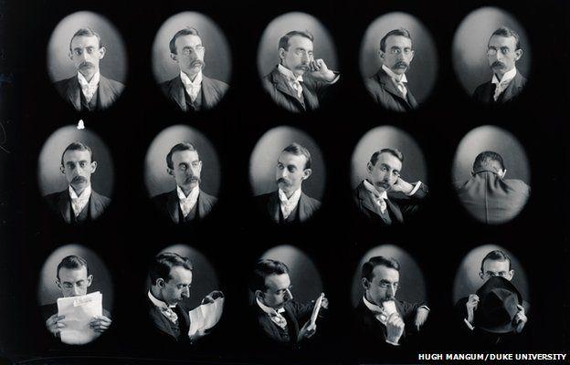 Fifteen self-portrait photos of Hugh Mangum