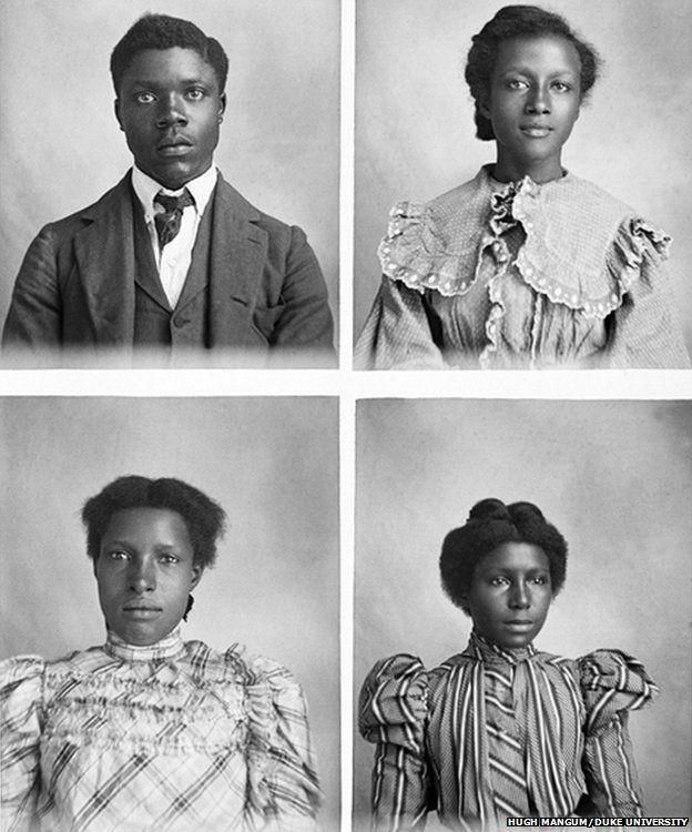 Four portrait photos taken by Hugh Mangum