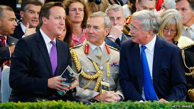 David Cameron at opening ceremony
