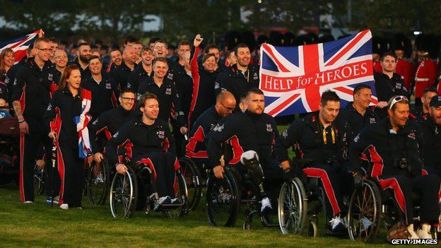 UK team at Opening Ceremony