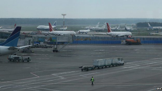 Planes at Moscow's Domodedovo airport. Photo: 10 September 2014