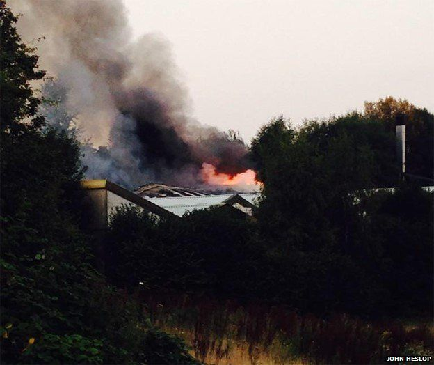 Fire at Manchester Dogs' Home
