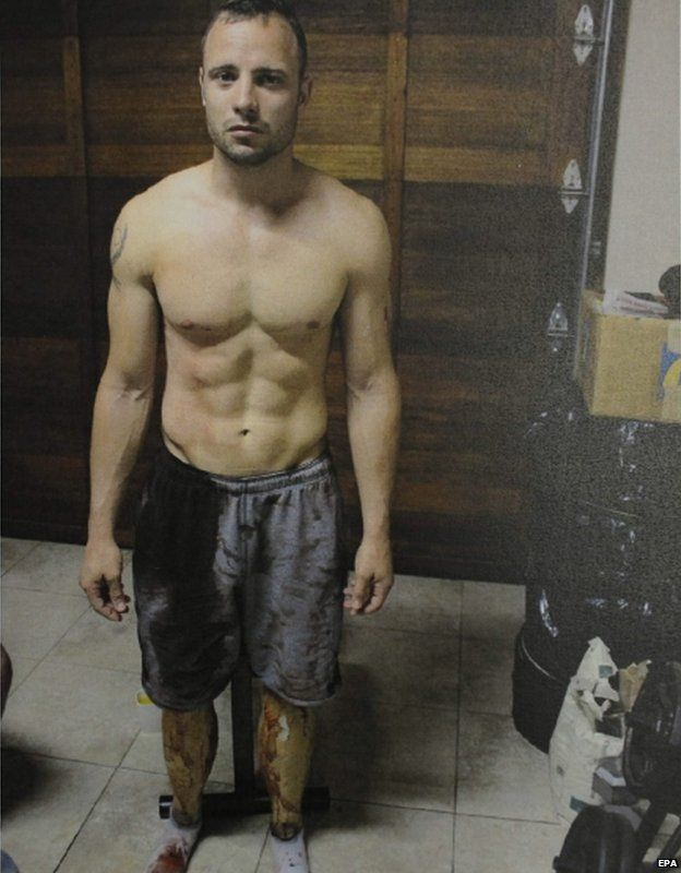 Pistorius just after the shooting
