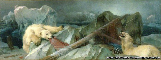 """Painting by Edwin Landseer """"Man Proposes, God Disposes"""" (1864)"""