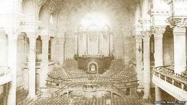 Colston Hall, Bristol when it opened in 1867