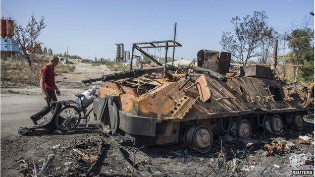 burned-out tank