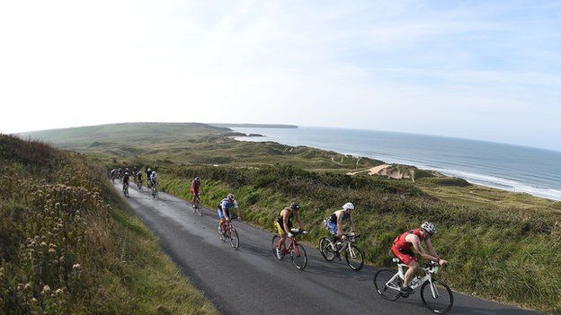 Athletes in Ironman Wales