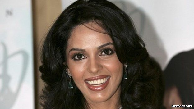 Actress Mallika Sherawat at the 58th International Cannes Film Festival May 17, 2005 in Cannes, France.