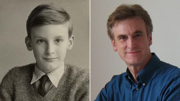 Phil Weatherley as a 10-year-old and now