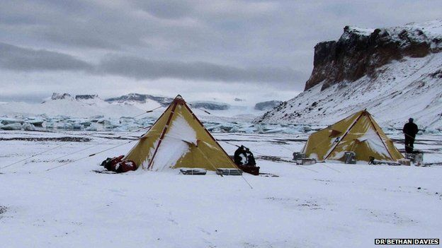 Experts studied a 4km long glacier on James Ross Island