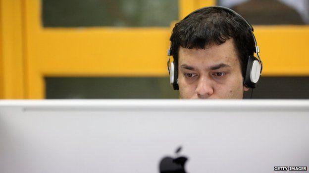 Man on computer
