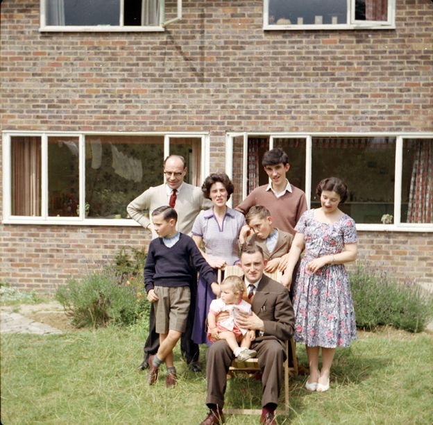 Frank Milner and his family