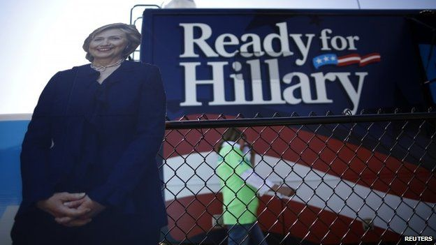 A ready for Hillary bus 14 September 2014