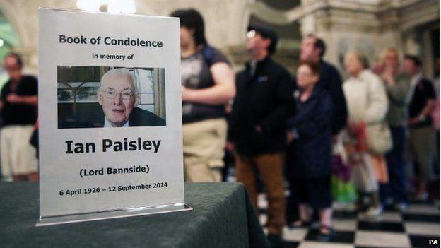 Book of condolence in Belfast City Hall