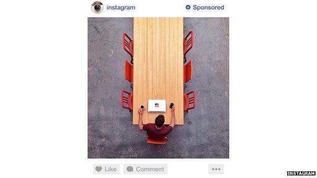 screenshot of Instagram ad
