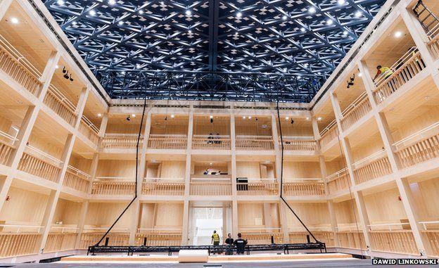 Inside the Shakespeare Theatre in Gdansk