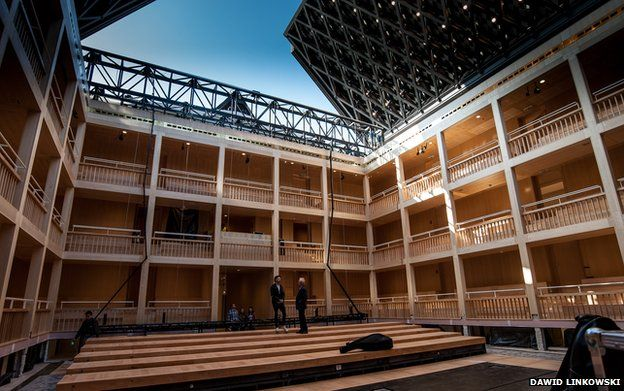 The Gdansk Shakespeare theatre, here without its roof