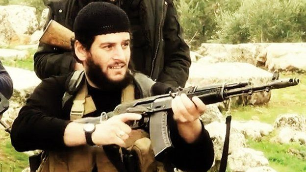 Undated image of Islamic State spokesman Shaykh Abu Muhammad al-Adnani.